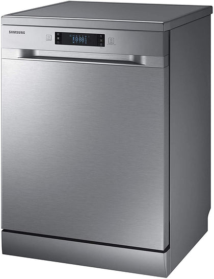 Samsung 7 programmes 14 place settings Free standing Dishwasher, Silver - DW60M6050FS, 1 Year Warranty - 2071MALL