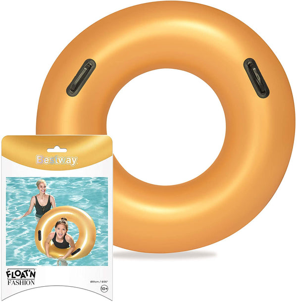 Bestway Swim Ring ,Gold, 91Cm - 2071MALL