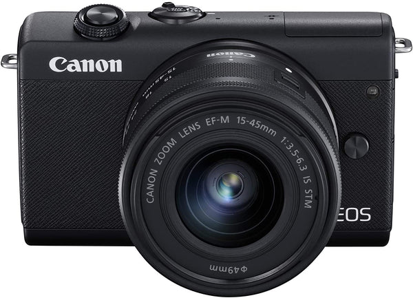 Canon EOS M200 with EF-M 15-45mm f/3.5-6.3 IS STM Lens/Black/B07YBP7S77 - 2071MALL
