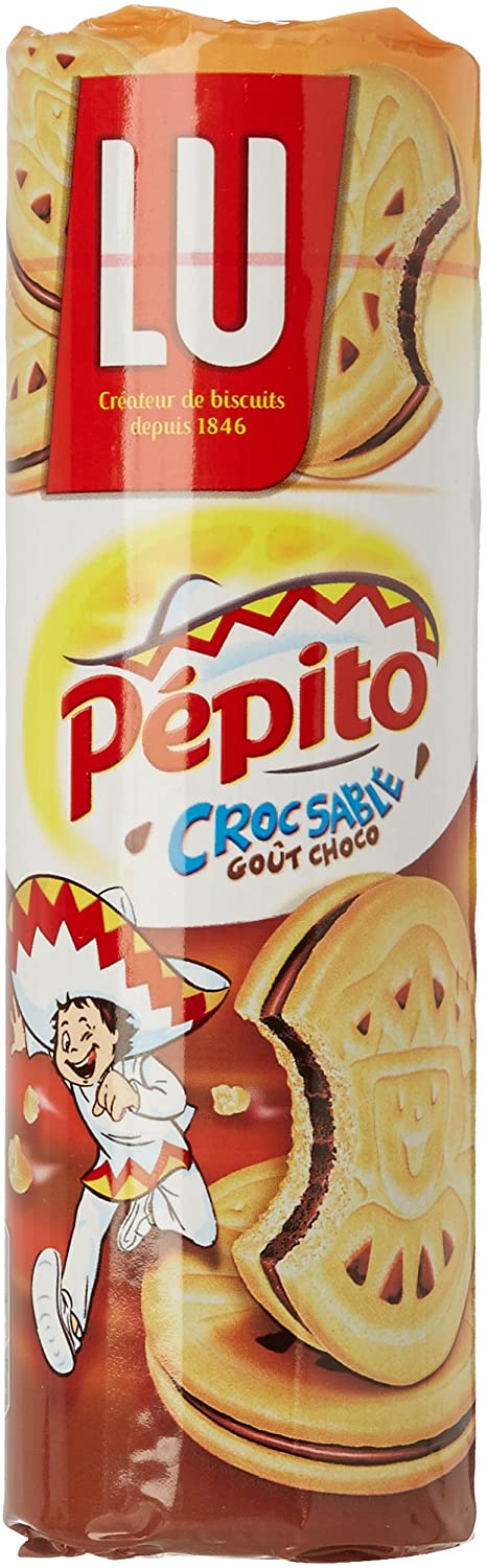 LU Pepito Croc Sable Chocolate Filled Biscuits, 294g
