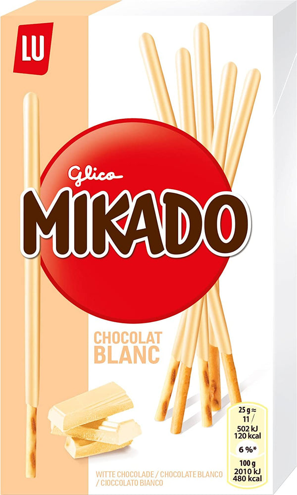 LU Mikado White Chocolate Coated Sticks, 70 gm