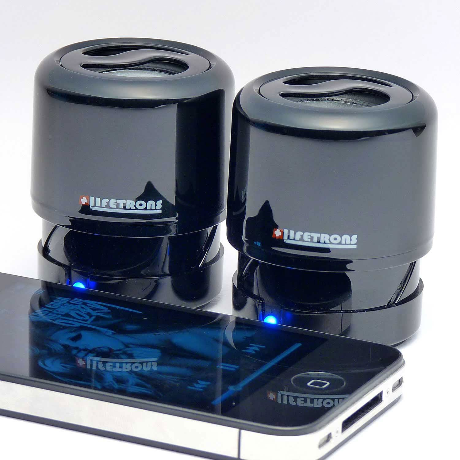 Lifetrons Drumbass Ii Extendable Rechargeable Speaker Black Ivory Stereo Edition - 2071MALL