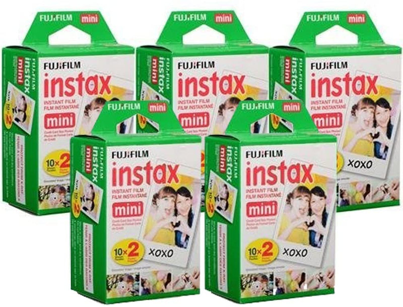 Fujifilm Instax Mini Instant Film, 10 Sheets of 5 Pack × 2 (100 Sheets) - Unauthorized Product - 2071MALL