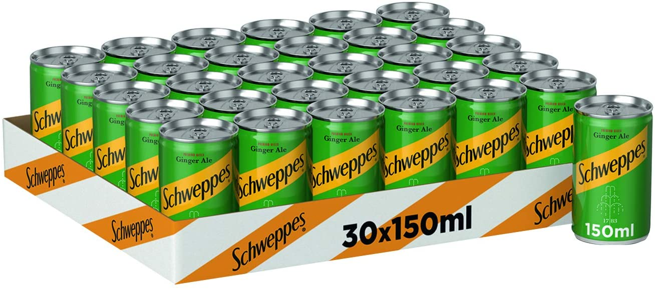 Schweppes Ginger Ale 30 x 150ml - 2071MALL