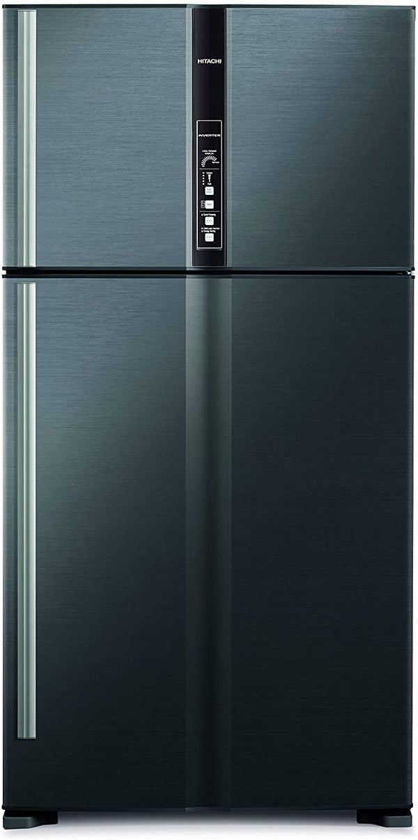 Hitachi 820 L Top Mount Refrigerator, Brilliant Silver/ RV820PUK1KBSL - 2071MALL