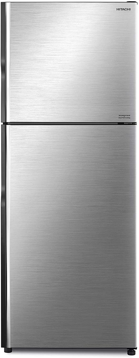 Hitachi 500 Liters Top Mount Refrigerator, Brilliant Silver - RV500PUK8KBSL, 1 Year Warranty - 2071MALL
