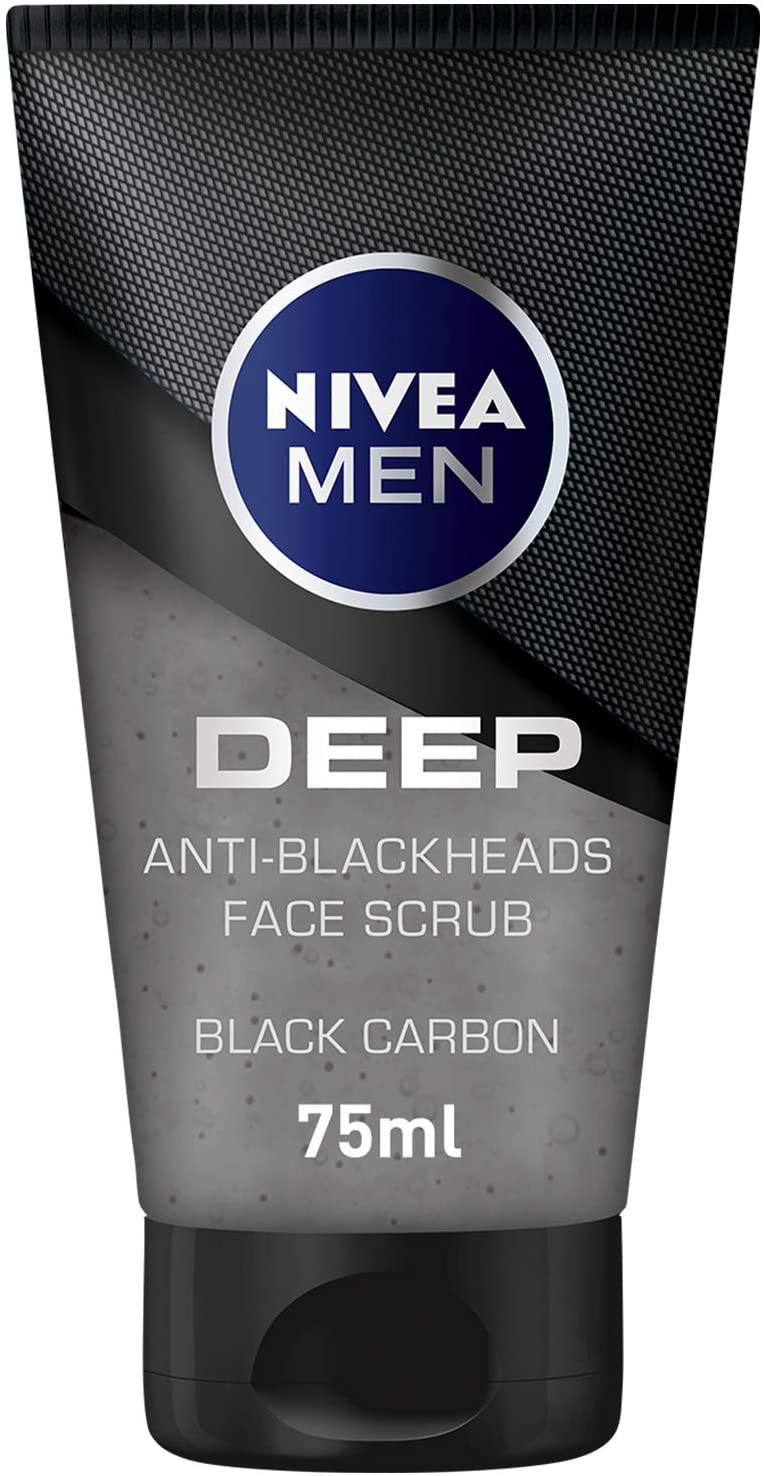Nivea Men Deep Anti-Blackhead Scrub 75ml - 2071MALL