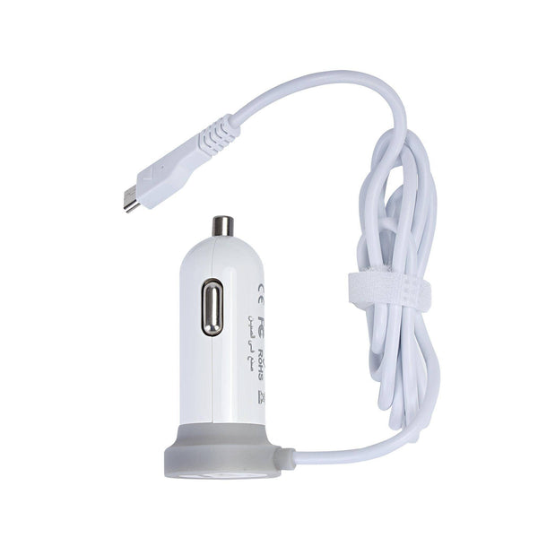 Geepas Car Charger USB 2.0 1x80 - White,GCC1958 - 2071MALL