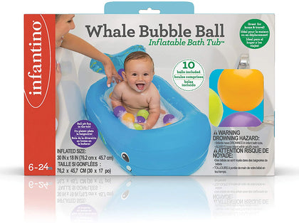 Infantino Whale Bubble Ball Inflatable Bath Tub, IN205016 - 2071MALL