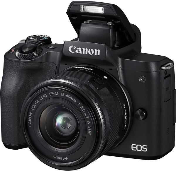 Canon EOS M50 EF-M 15-45mm/F3.5-6.3 IS STM lens/24.1 MP/4K/Mirrorless/Black/B07B37N1LJ - 2071MALL