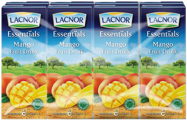 Lacnor Essentials Mango Fruit Drink - 180 ml x 8 - 2071MALL
