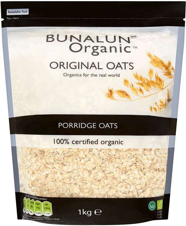 Bunalun Ireland Organic Porridge Oats 1kg - 2071MALL