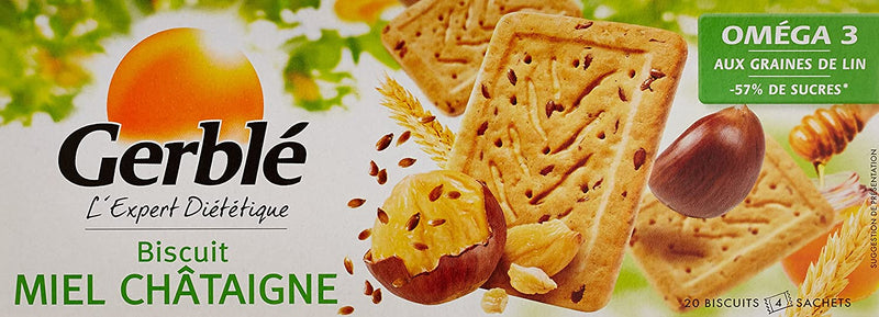 GERBLE OMEGA 3 Honey & chestnut biscuits 200G - 2071MALL