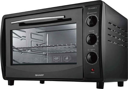 Sharp 42L 1800W Double Glass Electric Oven with Rotisserie & Convection - Black, EO-42NK-3 - 2071MALL