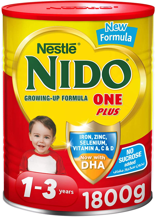 Nestle NIDO One Plus Growing Up Milk Powder Tin For Toddlers 1-3 Years, 1800g - 2071MALL