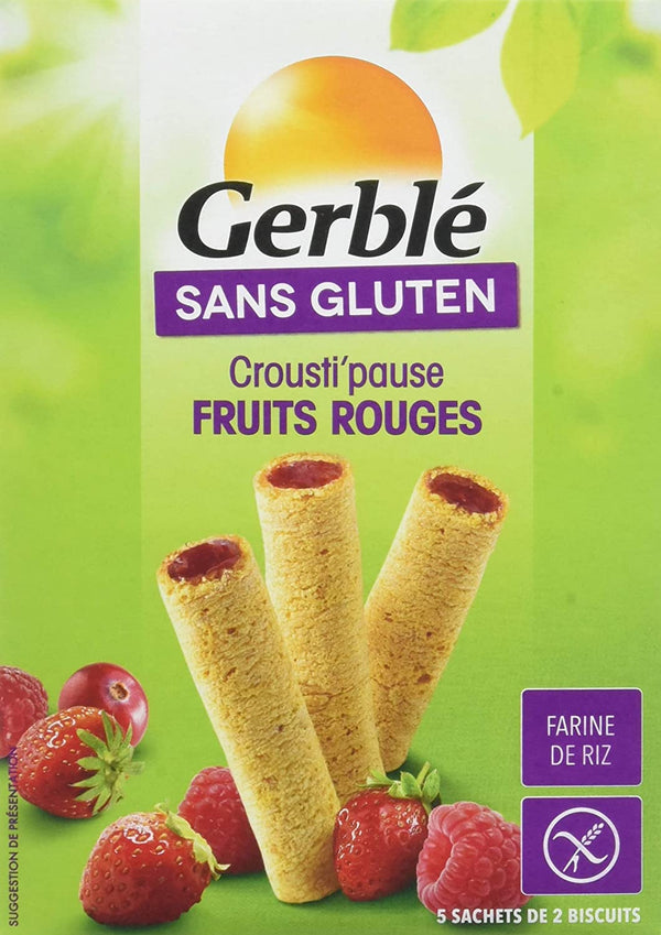 GERBLE GLUTEN FREE Red fruits crousti snack 125G