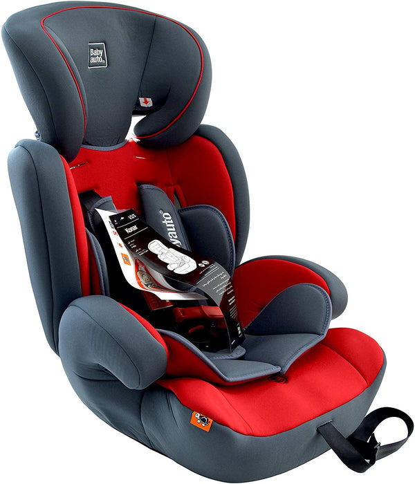 Babyauto Konar Baby Car Seat, From Age 1 to 12 years - Red, BA312098