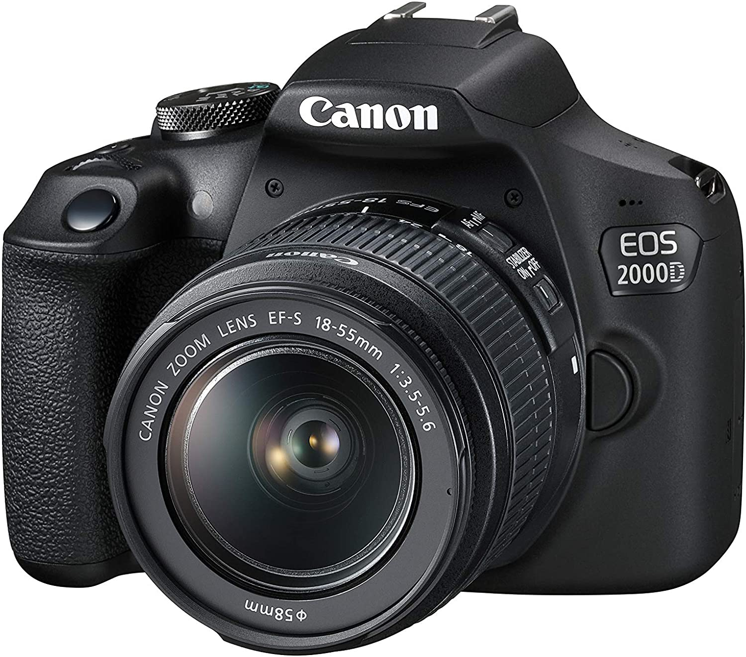 Canon EOS 2000D EF-S 18-55mm III Lens 2728C002 BLACK - 2071MALL