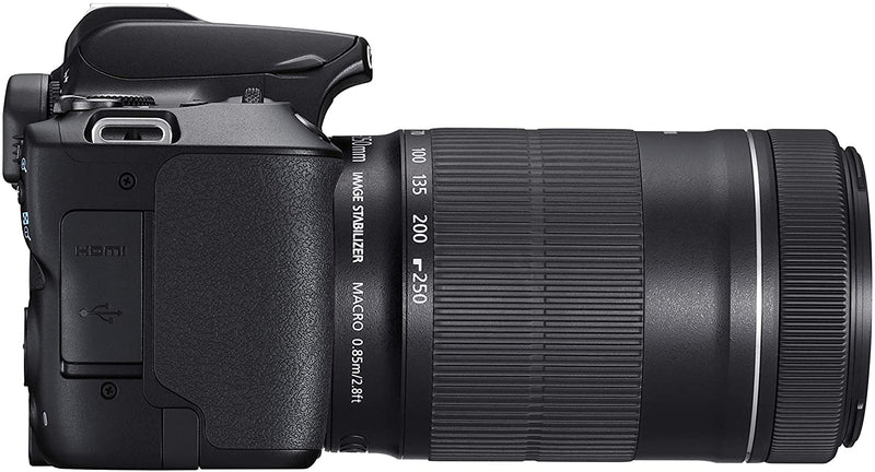 Canon EOS 250D + Canon EF-s 18-55mm f/4-5.6 IS STM Lens /Black/B07QHPBZNX - 2071MALL