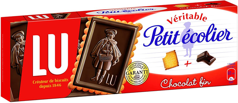 LU PETIT ECOLIER dark chocolate biscuits 150G - 2071MALL