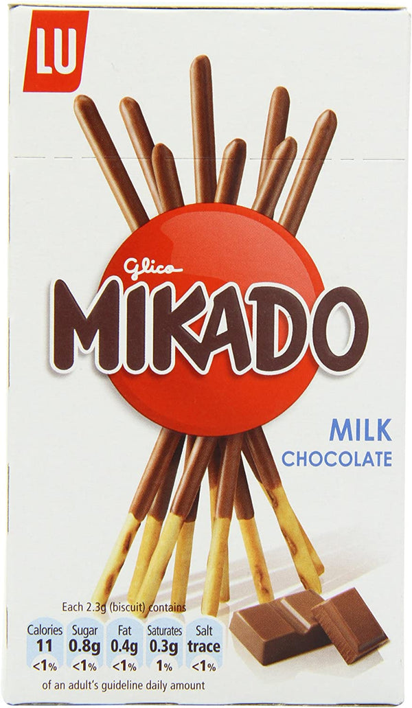 LU Mikado Pocket Milk Chocolate Coated Sticks, 75g