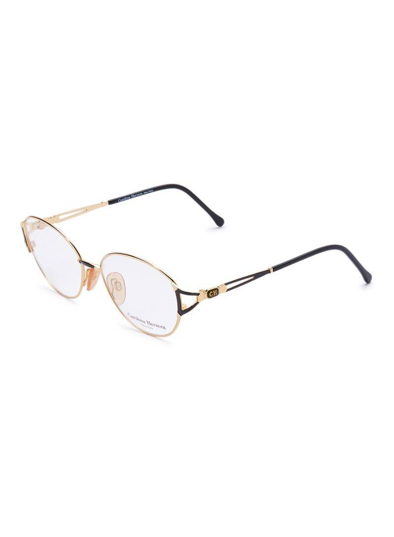 Carolina Herrera New York Frame For Unisex Gold Plated And Black - CH711-GP601-55-17-130 - 2071MALL