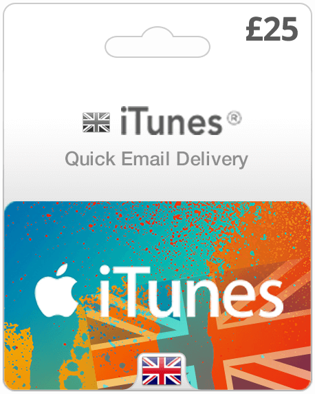 iTunes United Kingdom £25 Pounds (UK) - 2071MALL
