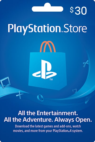 PlayStation Store UAE $30 US Dollar (USD)/Account details will be sent via email within 24 - 48 hours. Prepaid Only - 2071MALL