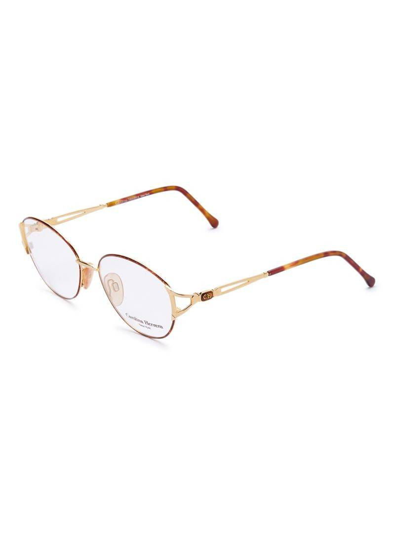 Carolina Herrera New York Frame For Unisex Gold Plated And Brown - CH711-GP605-55-17-130 - 2071MALL