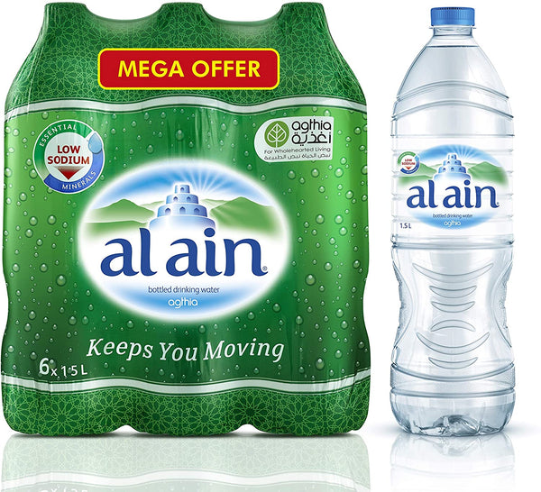 Al Ain Water, 1.5Ltr Mega Offer pack of 6 - 2071MALL