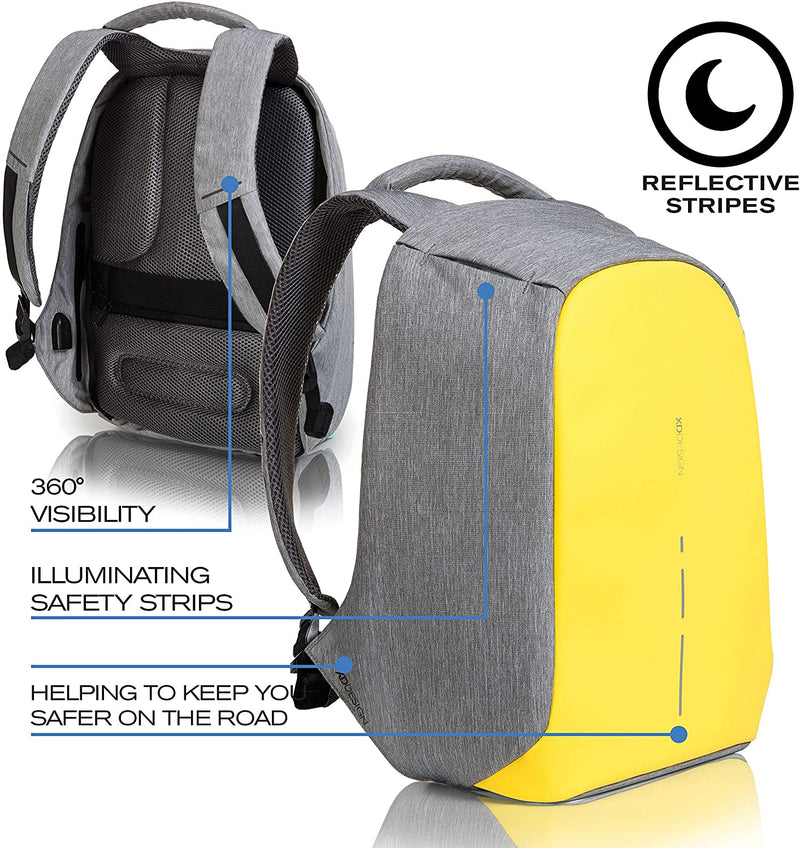 Xd Design - Bobby Compact Anti-Theft Backpack Primrose Yellow - Yellow, XD-P705-536 - 2071MALL