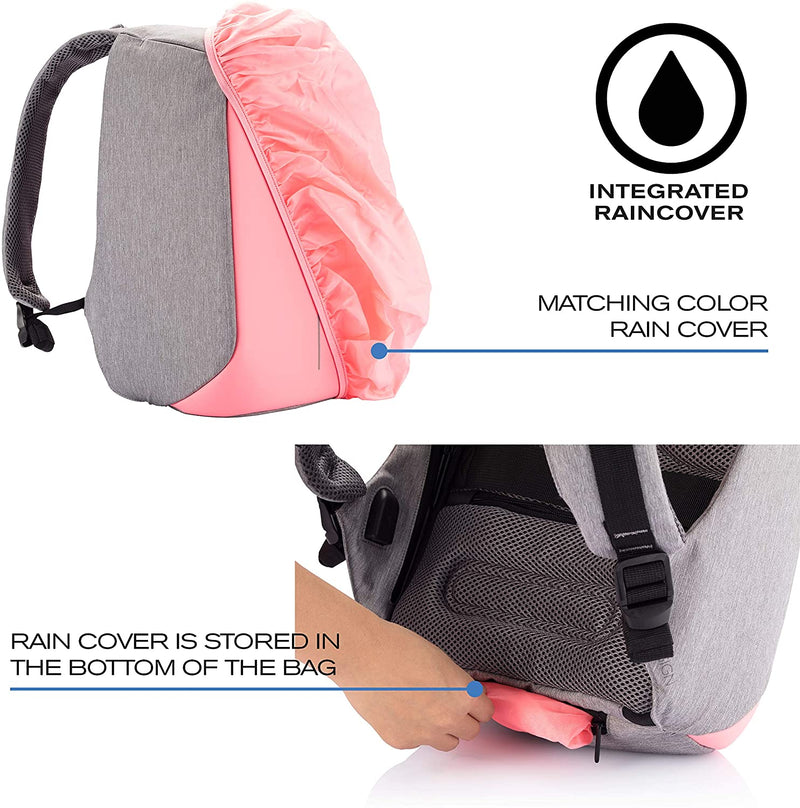Xd Design - Bobby Compact Anti-Theft Backpack Coralette - Pink, XD-P705-534 - 2071MALL
