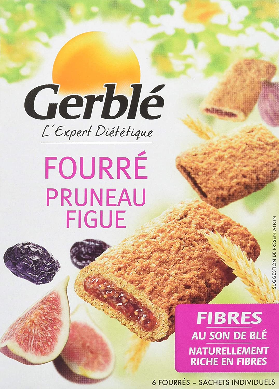 GERBLE prune and fig filled biscuits 180G - 2071MALL