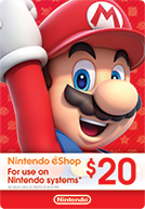 Nintendo United States $20 US Dollar (USD) - Account details will be sent via email within 24 - 48 hours. Prepaid Only - 2071MALL