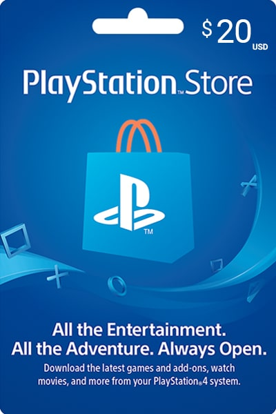 PlayStation Store US $20 US Dollar (USD)/- Instant Delivery (Prepaid Only) - 2071MALL