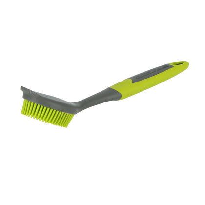 Royalford Dish Brush 24Cm - Portable Long Soft Handle Flexible Ergonomic Design with Hanging Hole Kitchen Brush Best Scratch-Free Cleaning Tool - 2071MALL