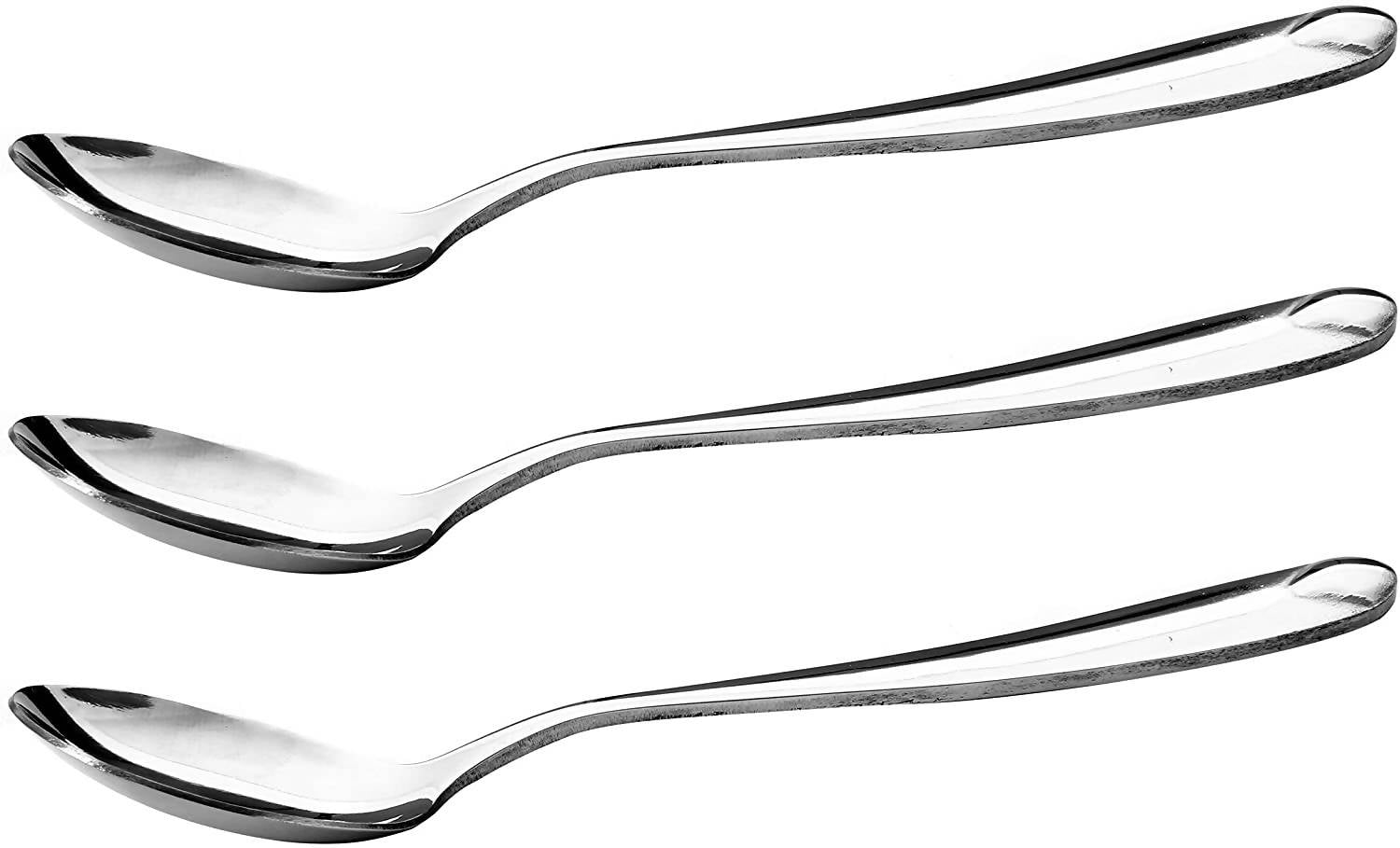 Royalford RF4190 SS Stainless Steel Soup Spoons - Serving Spoon Long Handle Dinner Cutlery, Dining Utensils Ideal for Hotel, Home & Outings - 2071MALL