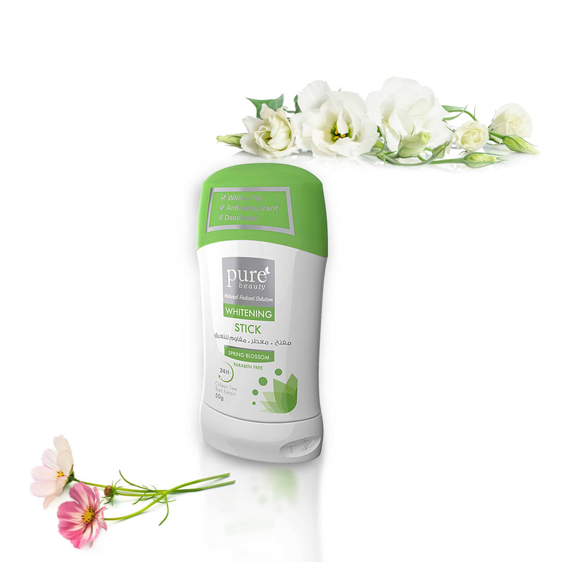Pure Beauty - Whitening Antiperspirant Deodorant Stick - Spring Blossom 50g - 2071MALL