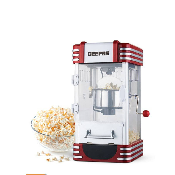 Geepas Popcorn Maker Stainless Steel Bowl 1x2 - Red, GPM839 - 2071MALL
