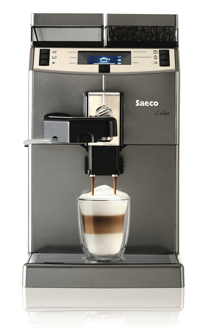 SAECO Lirika One-Touch Cappuccino Coffee Machine - Dark Grey, 10004768 - 2071MALL