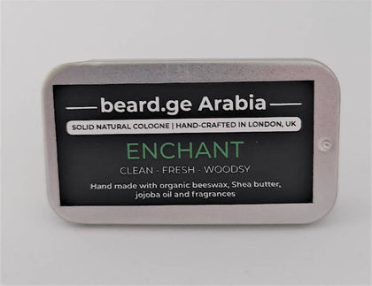 Solid Natural Cologne -Enchant- Dry Perfume- Clean , Fresh and woodsy - 2071MALL