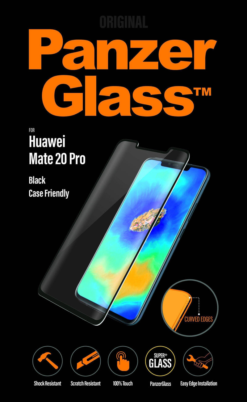 Panzerglass - Huawei Mate 20 Pro Black Curved Edges Case Friendly Screen Protector - Black, PNZ5324 - 2071MALL