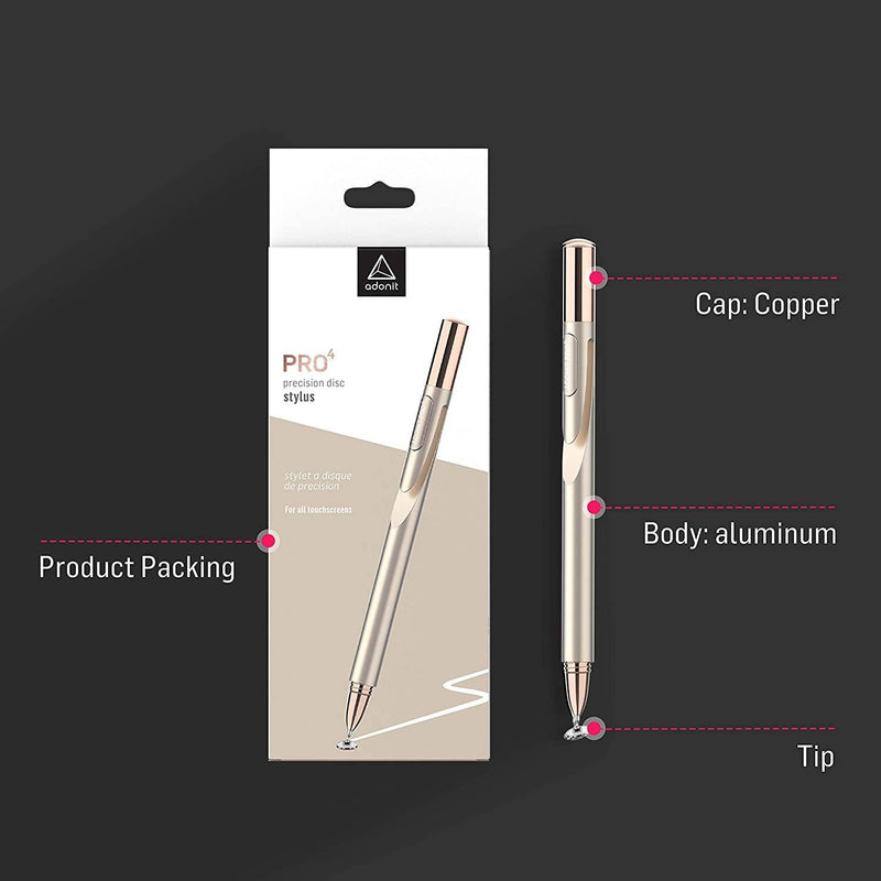 Adonit - Jot Pro 4.0 New Generation Fine Point Precision Stylus - Golden, ADP4G - 2071MALL