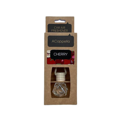 "Acappella CRAFT Pendant Car Air Freshener in glass bottle ""CHERRY "" - 2071MALL"