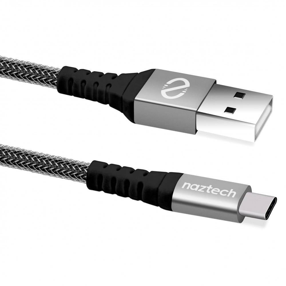 Naztech - USB-A to USB-C 2.0 Braided Cable 1.2m -NTC-13849 Black, NTC-13849 - 2071MALL