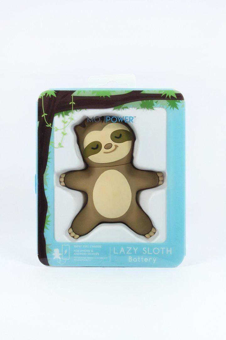 Moji Power - External Battery Portable Charger 2600 Mah Power Bank - Lazy Sloth, MP-001-LS - 2071MALL