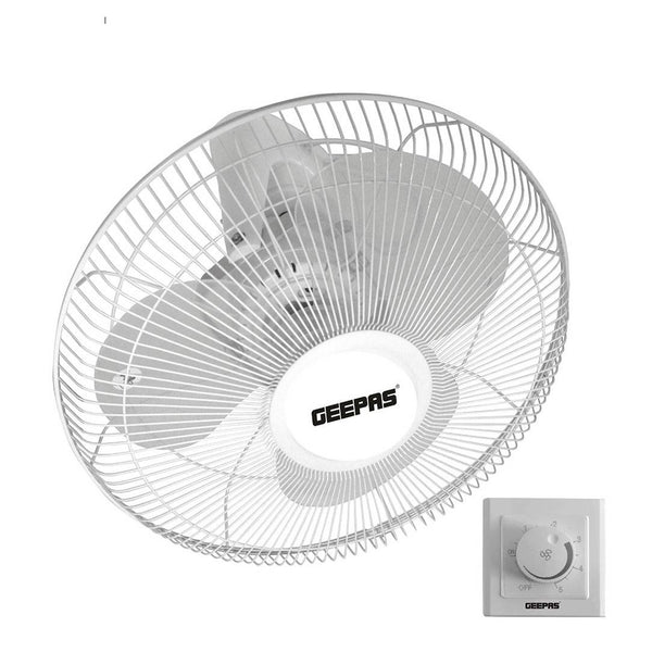 "Geepas 16"" Orbit Fan With Speed Controller 1X2 - White, GF9607 - 2071MALL"