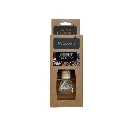 "Acappella CRAFT Pendant Car Air Freshener in glass bottle ""Orient Express"" - 2071MALL"