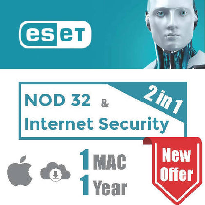 ESET NOD 32 & Internet Security (2 in 1 package) - 1 Mac - 1 Year - 2071MALL