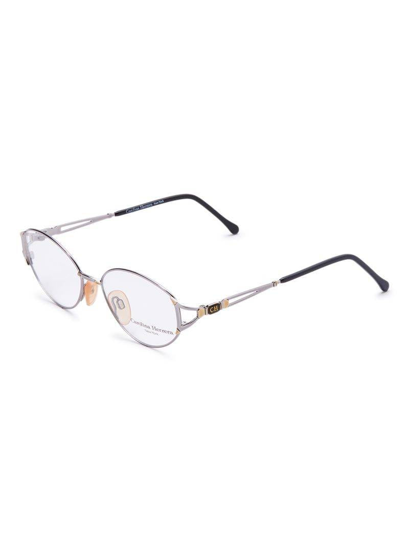 Carolina Herrera New York Frame For Unisex Silver And Gold - CH710-687-53-17-130 - 2071MALL